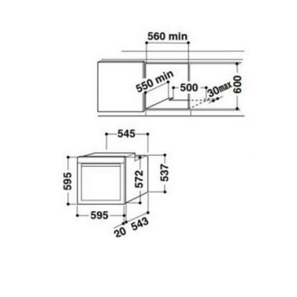 Whilrpool AKZM6560 csomagolt beépíthető sütő